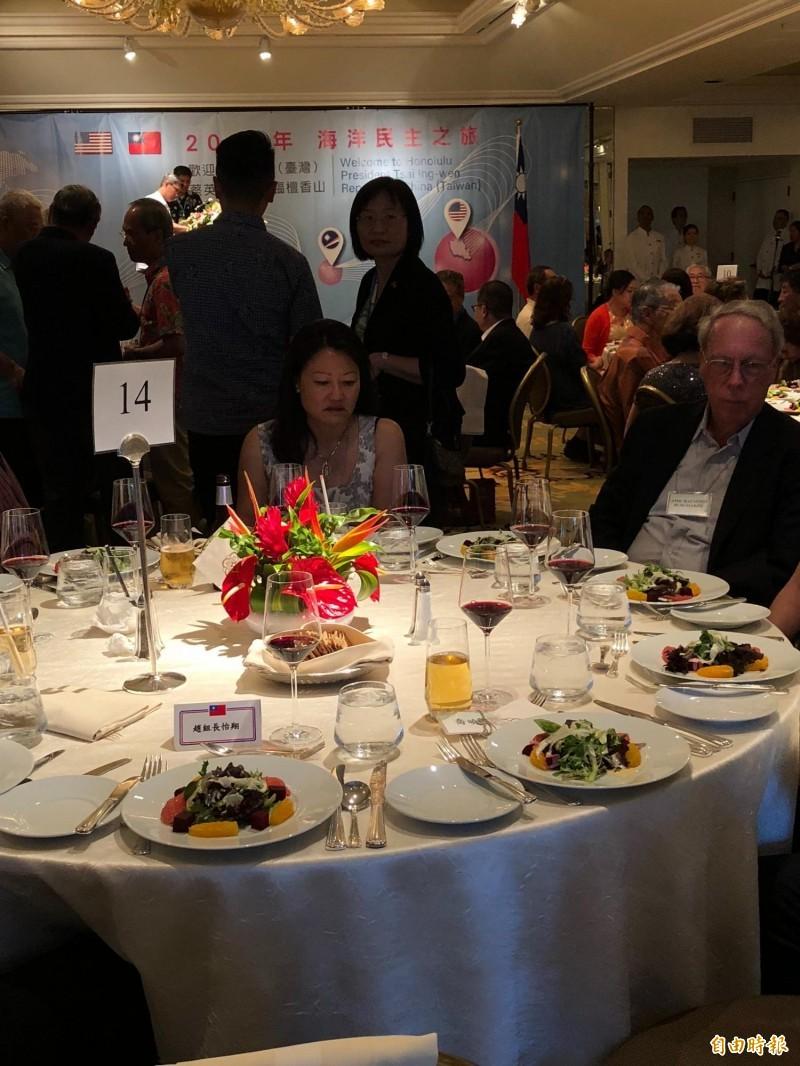 蔡英文總統在夏威夷時間26日晚間舉行僑宴,現場席開超過30桌,氣氛熱烈。(特派記者蘇永耀攝)
