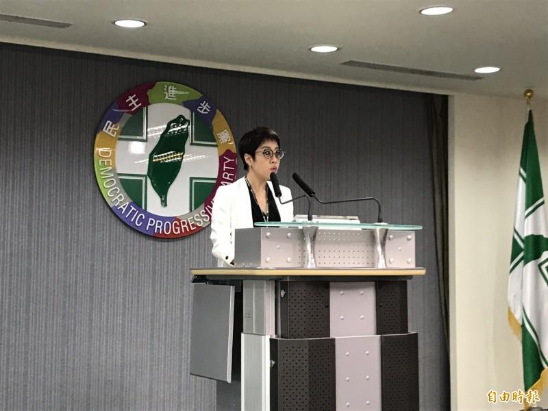 李晏榕指出,總統初選協調時間延長至4月12日止,中執會公告總統候選人提名名單順延至4月24日。(記者蘇芳禾攝)