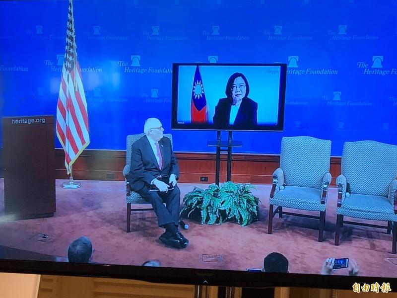 與華府智庫視訊 蔡總統:台灣是印太區域的民主燈塔