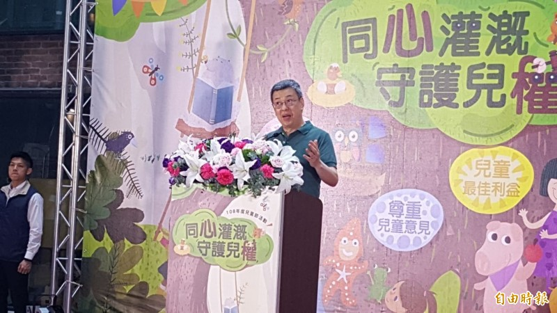 陳建仁今受訪表示,他的出發點就是希望民進黨團結,希望能讓蔡總統作出最好的選擇。(記者楊心慧攝)