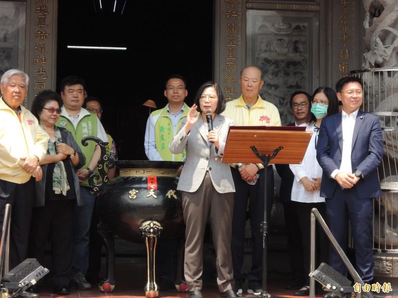 總統蔡英文強調,台灣是世界的台灣。(記者王榮祥攝)