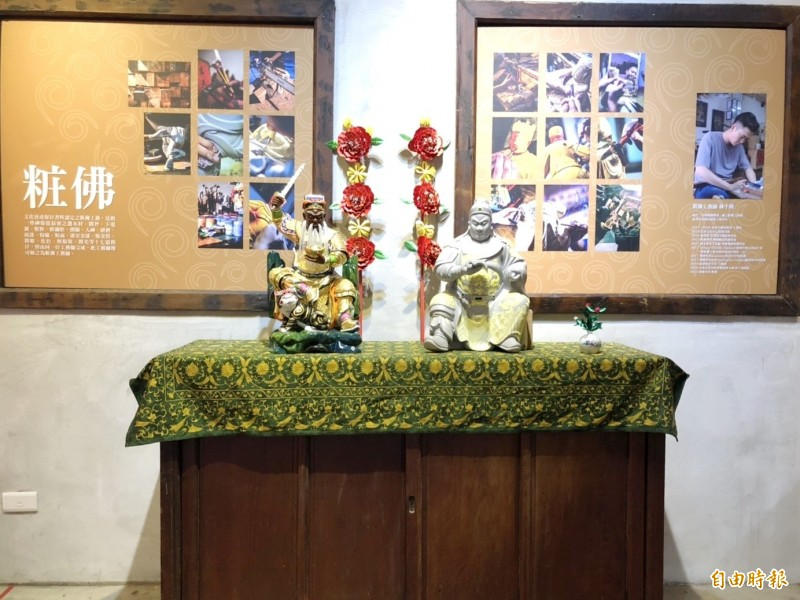 雲林記憶Cool結合粧佛、漆線、纏花的媽祖文化展。(記者廖淑玲攝)
