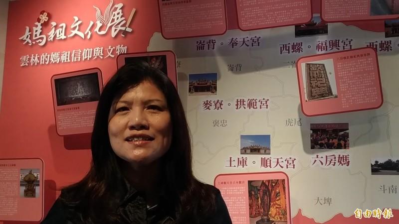 雲林記憶Cool媽祖文化展活動負責人台灣公益CEO協會祕書長林淑娥。(記者廖淑玲攝)