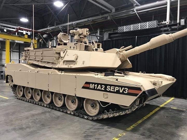 美軍M1A2SEPV3戰車。(圖擷取自美國陸軍網站)