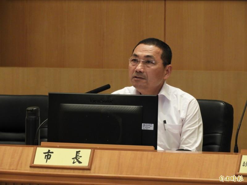新北市長侯友宜今天宣布,每年公幼最少增加25班,未來4年希望以增加100個班級為目標,鼓勵年輕夫妻生養。(記者賴筱桐攝)