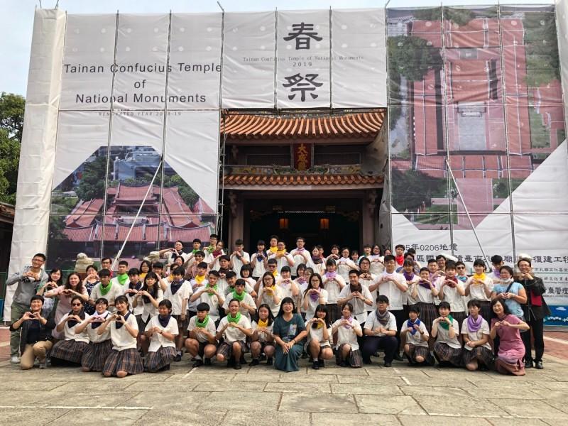 光華高中在台南孔廟舉辦「聞喜宴 」,鼓勵學生多元領域學習。(記者洪瑞琴翻攝)
