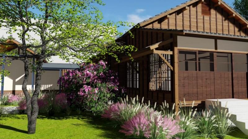 經濟農場咖啡工場員工宿舍修復完工示意圖。(記者詹士弘翻攝)