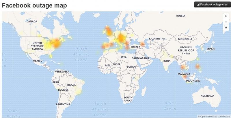 全球都有使用者回報錯誤。(記者簡惠茹翻攝自downdector)