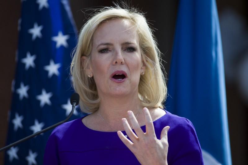 美國國土安全部部長尼爾森傳因端不出強硬的移民規範,引發白宮高層不滿而將去職。(美聯社)