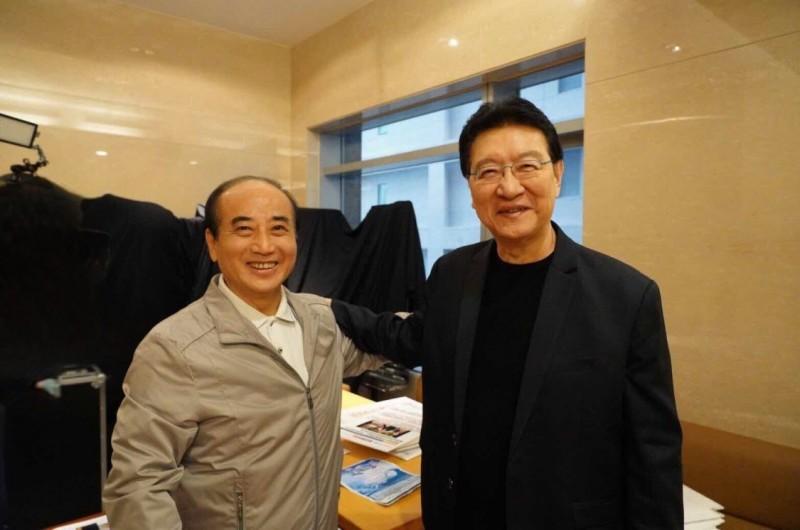 前立法院長王金平下午到電視節目《少康戰情室》接受專訪。(王金平辦公室提供)