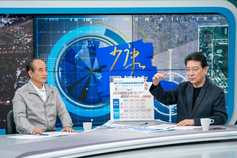 王金平接受電視節目《少康戰情室》專訪,暢談競選理念。(TVBS提供)