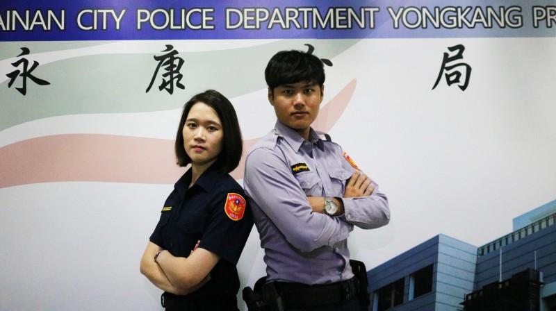 警察制服明起全面換裝,永康警分局特製作影片宣傳,增加民眾熟悉度。(永康警分局提供)