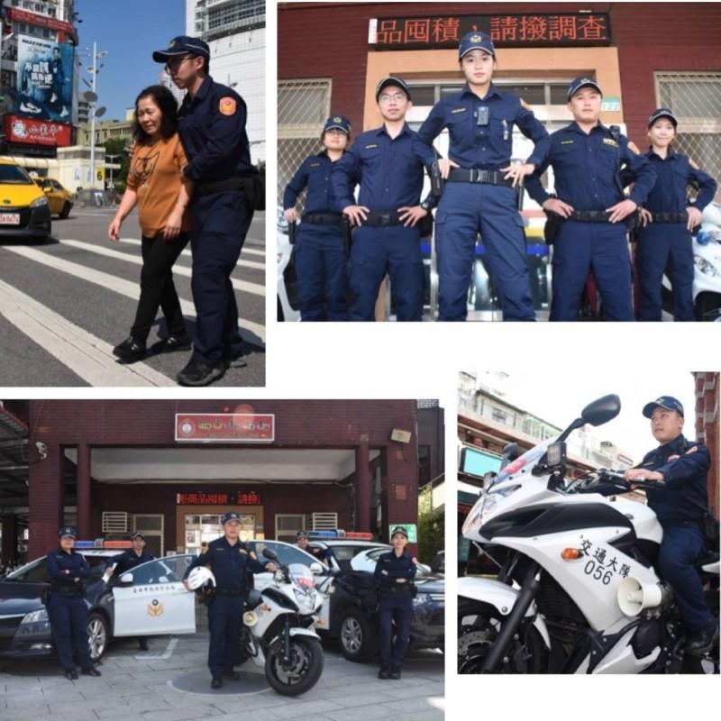 台灣警察今日全面換新裝(記者劉慶侯翻攝)