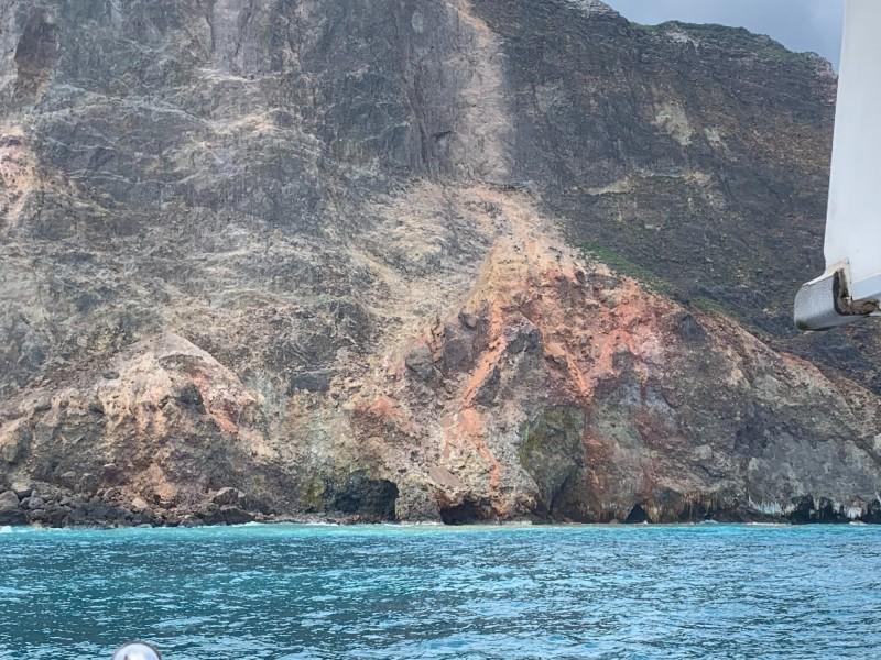 龜山島龜首今受強震影響。(解說員邱瑞宏提供)