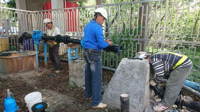 水公司完成烏日3號抗旱井的設備更新工程,可補充烏日區每日2700噸的備援水量。(記者蘇金鳳翻攝)