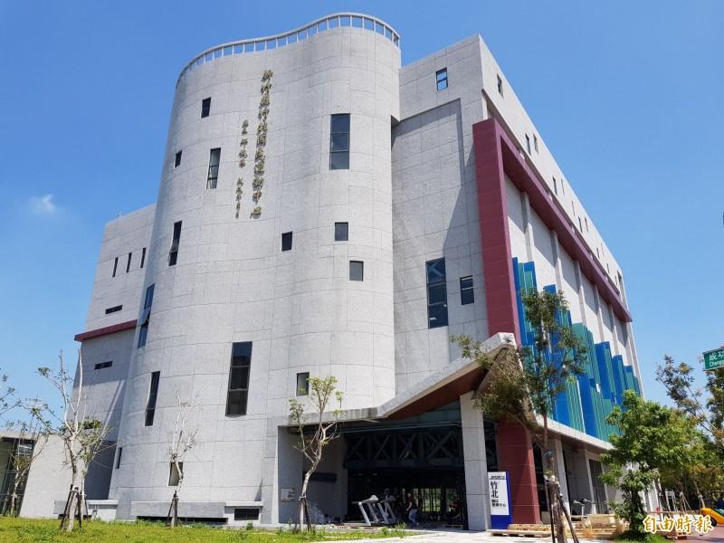 位於新竹縣游泳館旁的竹北國民運動中心,是全縣唯一的國民運動中心。溪南地區的核心鄉鎮竹東鎮也爭取設置。(資料照片,記者蔡孟尚攝)