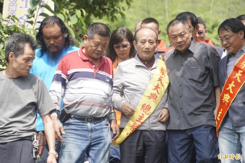 王金平參加中華民國道教青年總會會員大會尋求支持。(記者黃佳琳攝)