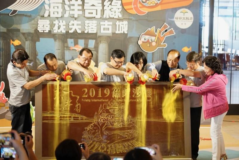 福隆國際沙雕藝術季登場,為期128天至8月25日止,是歷屆展期最長的一次。(交通部觀光局東北角暨宜蘭海岸國家風景區管理處提供)