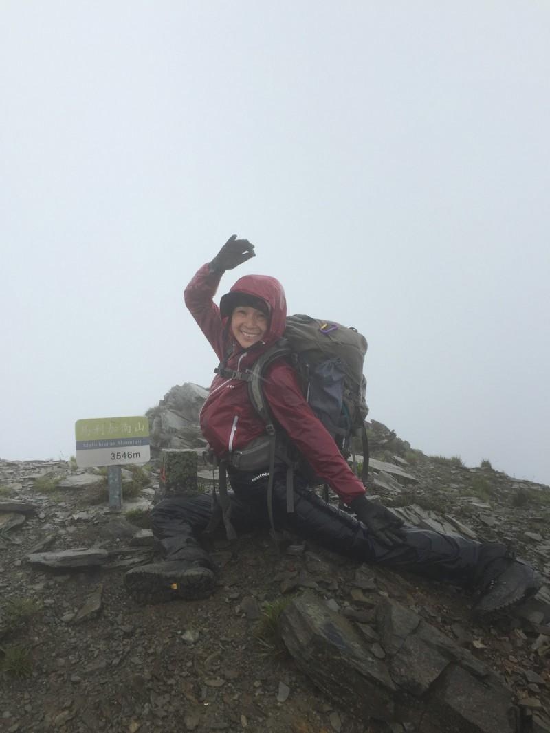 馬利加南山是百岳瑜珈中唯一未獻上舞王的山頂。(何茜芸提供)