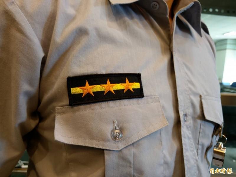法警階級與院外行政警察一樣,非主管職基層同為一線三星。(記者張議晨攝)