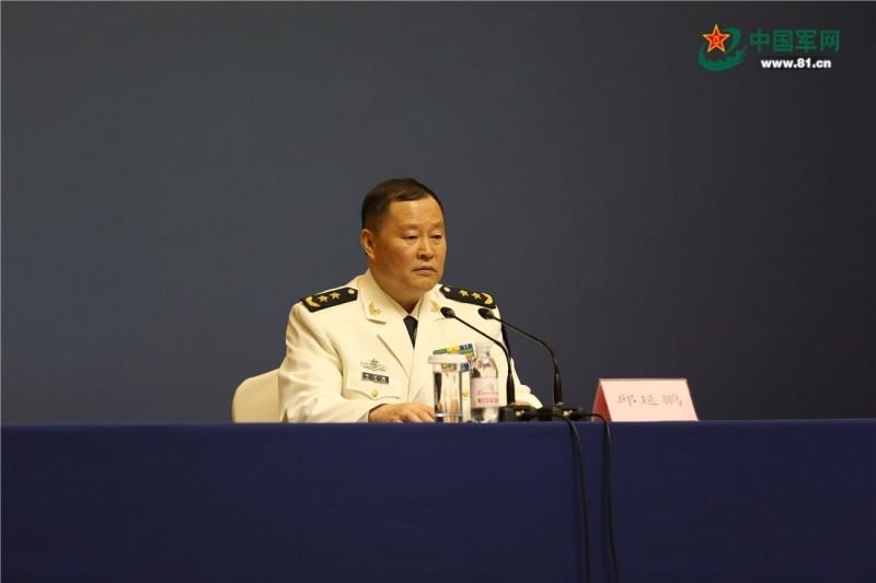 解放軍海軍副司令員邱延鵬中將。(取自中國軍網)