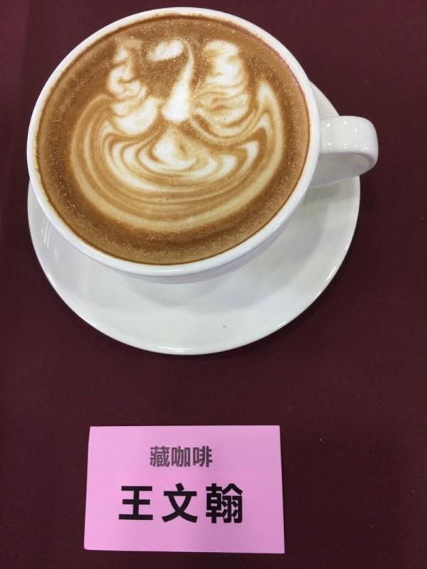 藏咖啡的天鵝圖案獲得評審青睞。(嘉義市政府提供)