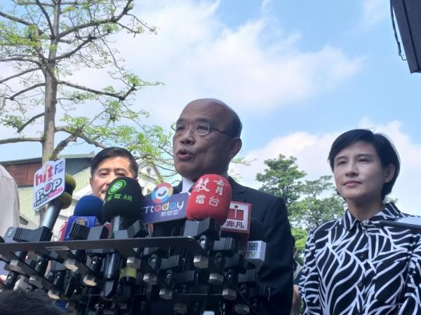 行政院長蘇貞昌今日參加文博會開幕。(記者陳昱勳攝)