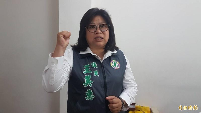 嘉市議員王美惠將代表民進黨出馬競選明年立委大選。(記者丁偉杰攝)
