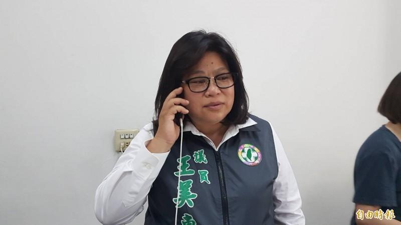 王美惠在初選勝出後,打電話給前總統陳水扁表達感謝相挺。(記者丁偉杰攝)