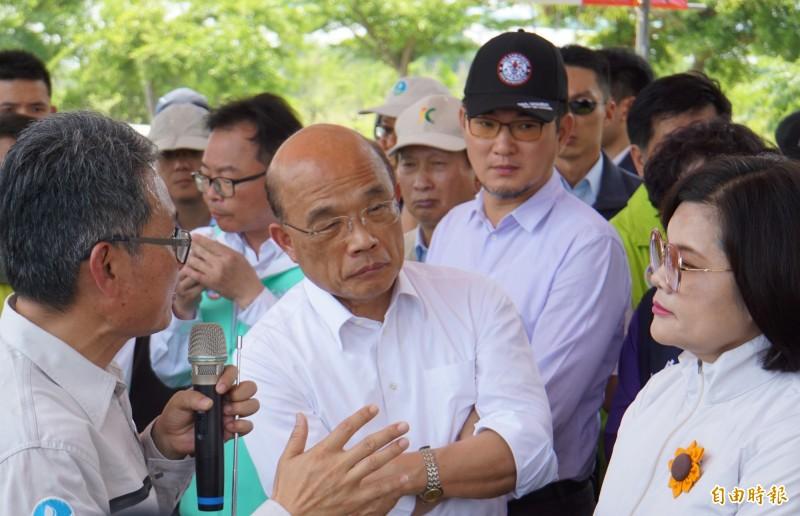 行政院長蘇貞昌指示成立「防治地層下陷整合平台」,政府部門要以身作則。(記者詹士弘攝)