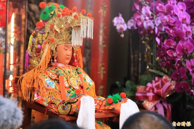 白沙屯媽祖進香為台灣年度宗教盛事,參與人數逐年急速成長。(記者鄭名翔攝)
