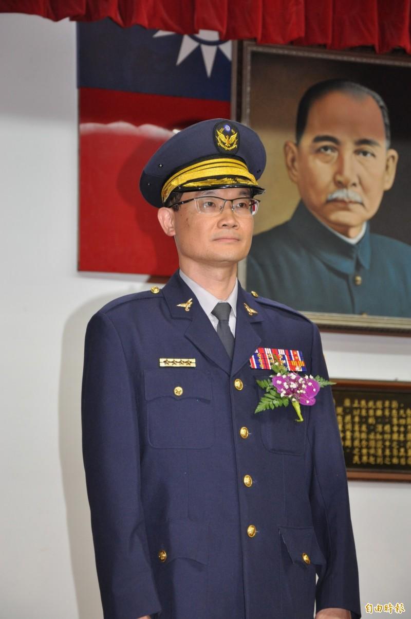 苗栗縣警局新任主任秘書鍾承志。(記者彭健禮攝)