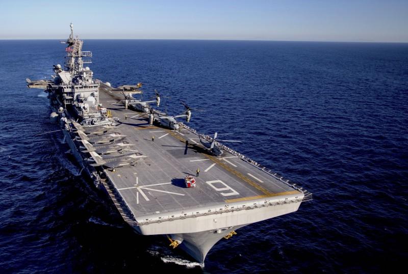美軍兩棲攻擊艦美利堅號(USS America)。(圖片來源:美軍陸戰隊網站)