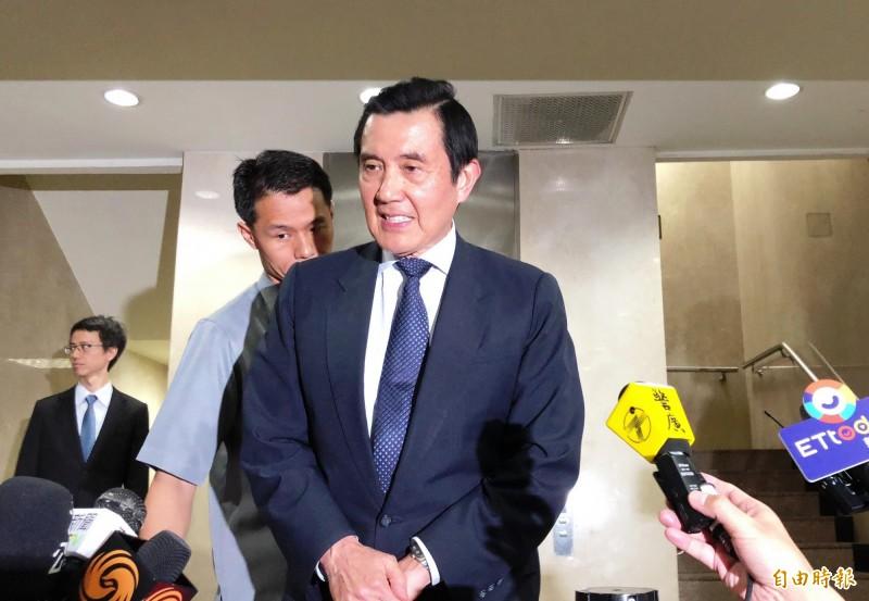 前總統馬英九深陷三中案,被列為違反7年以上重罪的證券交易法被告,現由台北地院審理中。(記者錢利忠攝)