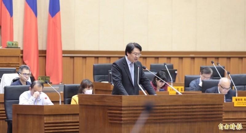 基隆市長林右昌施政報告(記者盧賢秀攝)