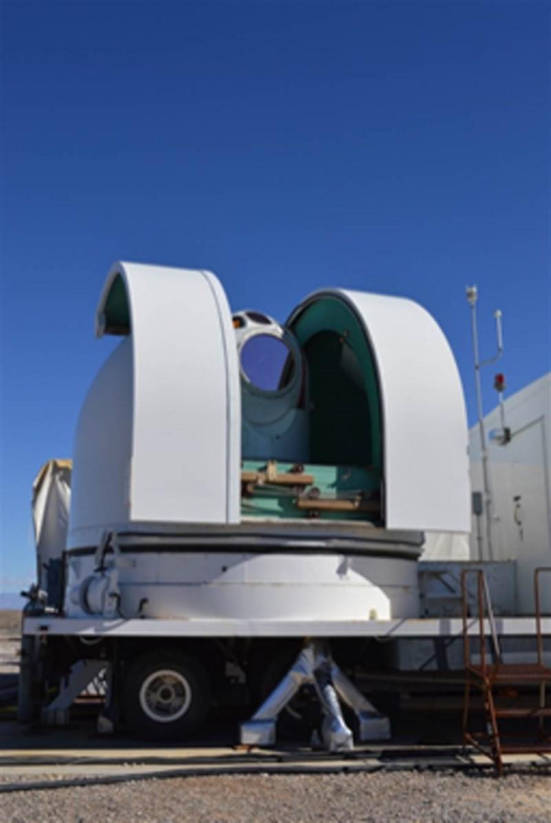 洛克希德馬丁公司研發的地面雷射砲成功擊落飛行中的飛彈,這是雷射武器開發的首例。(圖片來源:美國空軍官網)