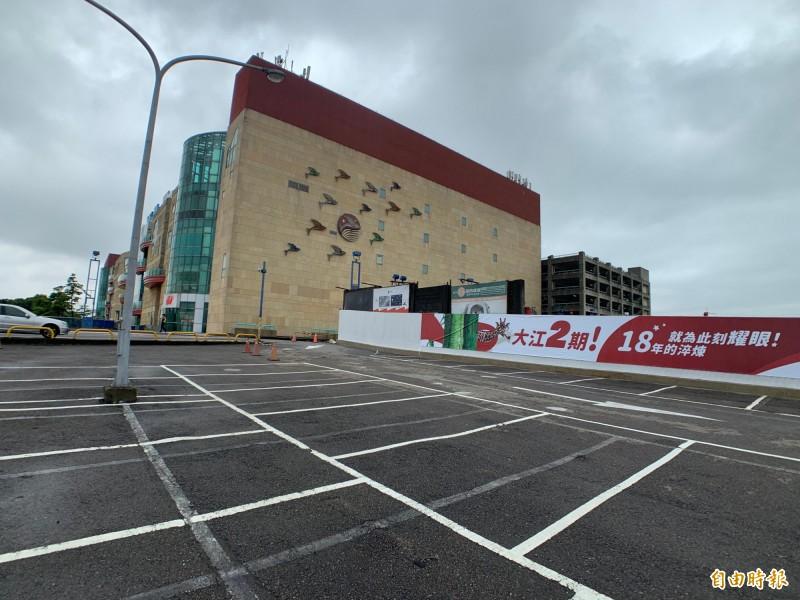 大江購物中心已動工興建4公頃的二期計畫,預計2022年初開幕。(記者李容萍攝)