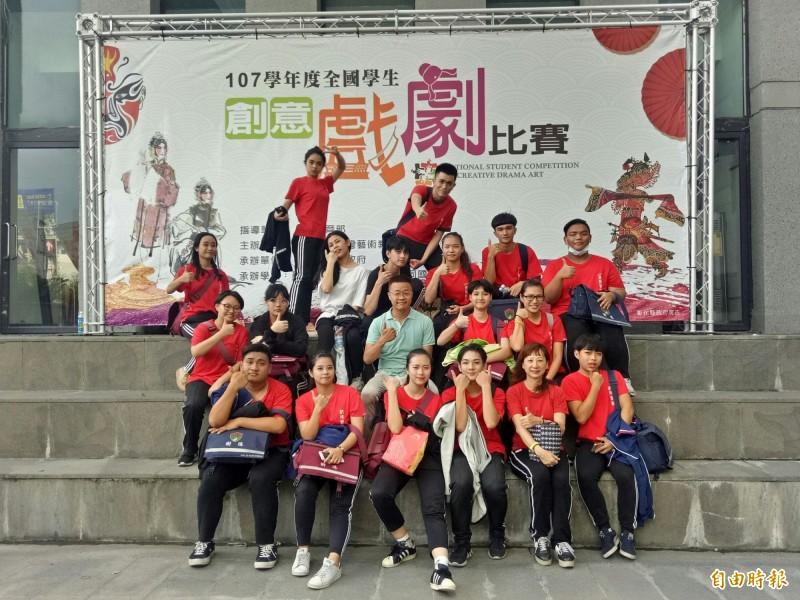 樹德家商獲全國學生創意戲劇比賽優等。(記者黃旭磊攝)