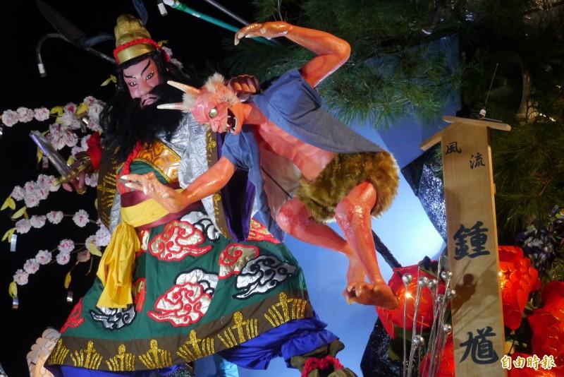 盛岡山市分別於2002年、2007年及2016年應邀到花蓮舉辦傳統山車大遊行,4米高山車壯觀震撼。(記者王峻祺攝)