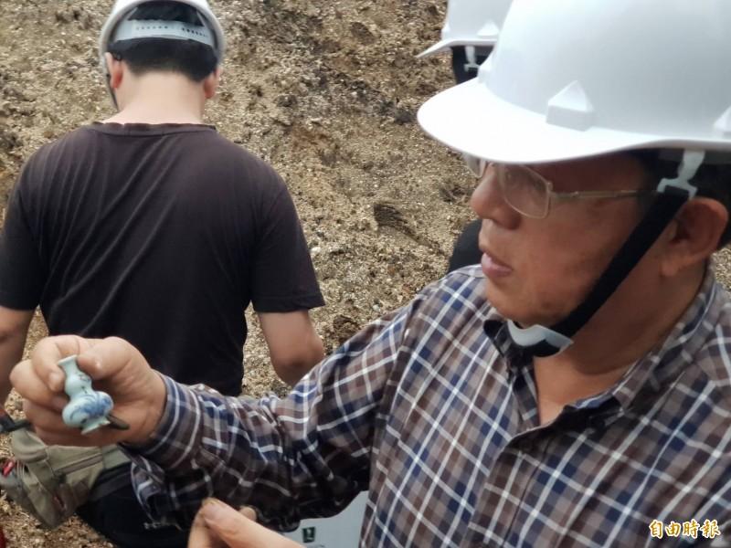 和平島考古團隊挖掘到豐富的考古文物。(記者林欣漢攝)