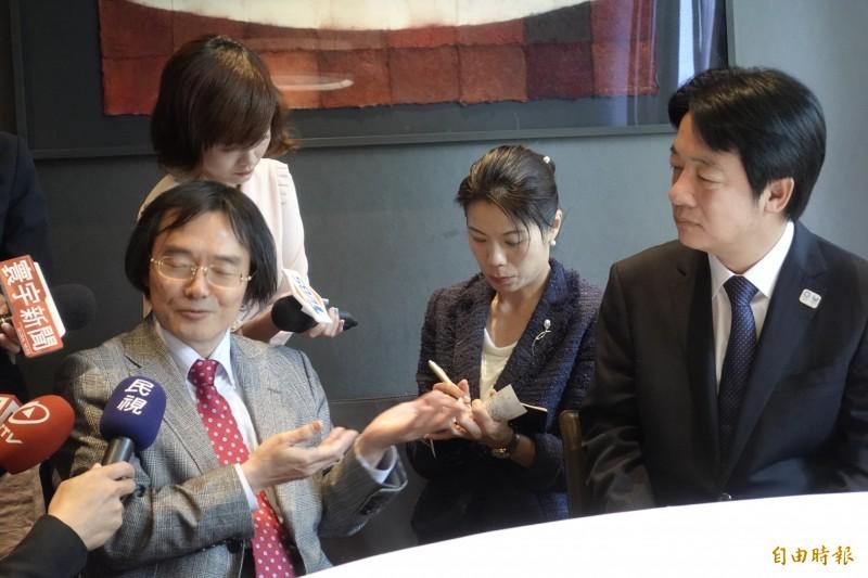 日本作家門田隆將表示,看到國會議員歡迎賴桑的盛況,可以感受大家對他的期待很大。 (記者林翠儀攝)