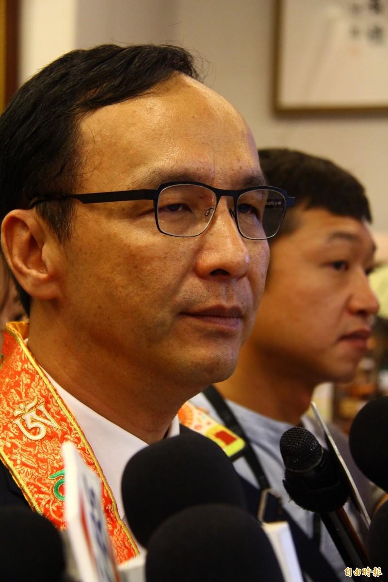 朱立倫提出的「藍軍大智庫」,他強調,這都是一貫的主張,能夠提供好政策,讓台灣更好也是爭取民眾的基本方針。(記者邱書昱攝)