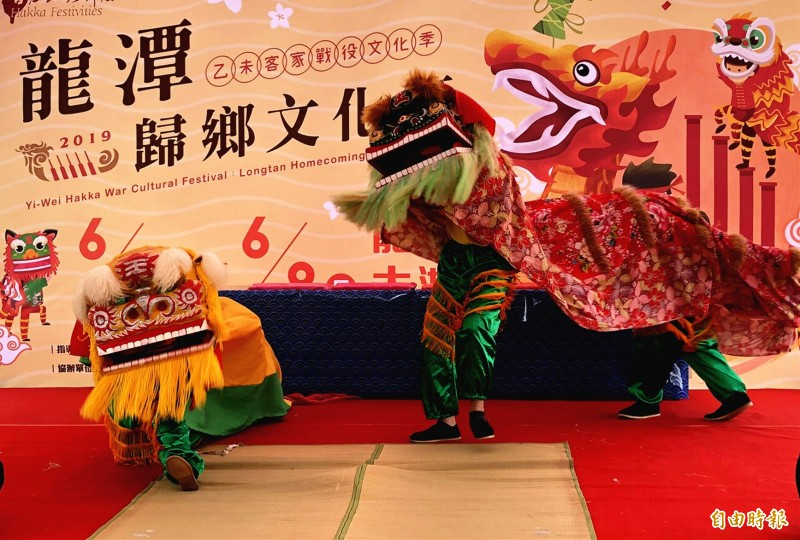 龍潭歸鄉文化節,展現百年地方傳統。(記者李容萍攝)