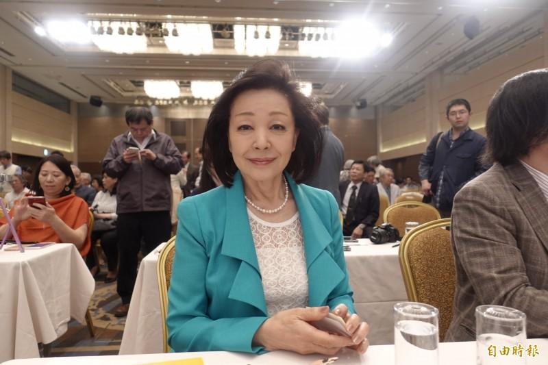 日本知名評論家櫻井良子對賴清德的演說給予高度評價。(記者林翠儀攝)