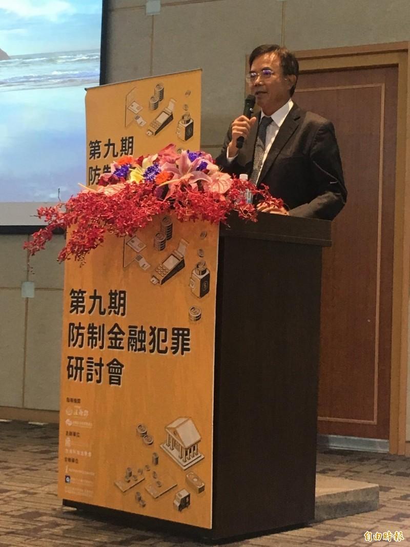 法務部政務次長蔡碧仲為研討會致詞。(記者黃欣柏攝)