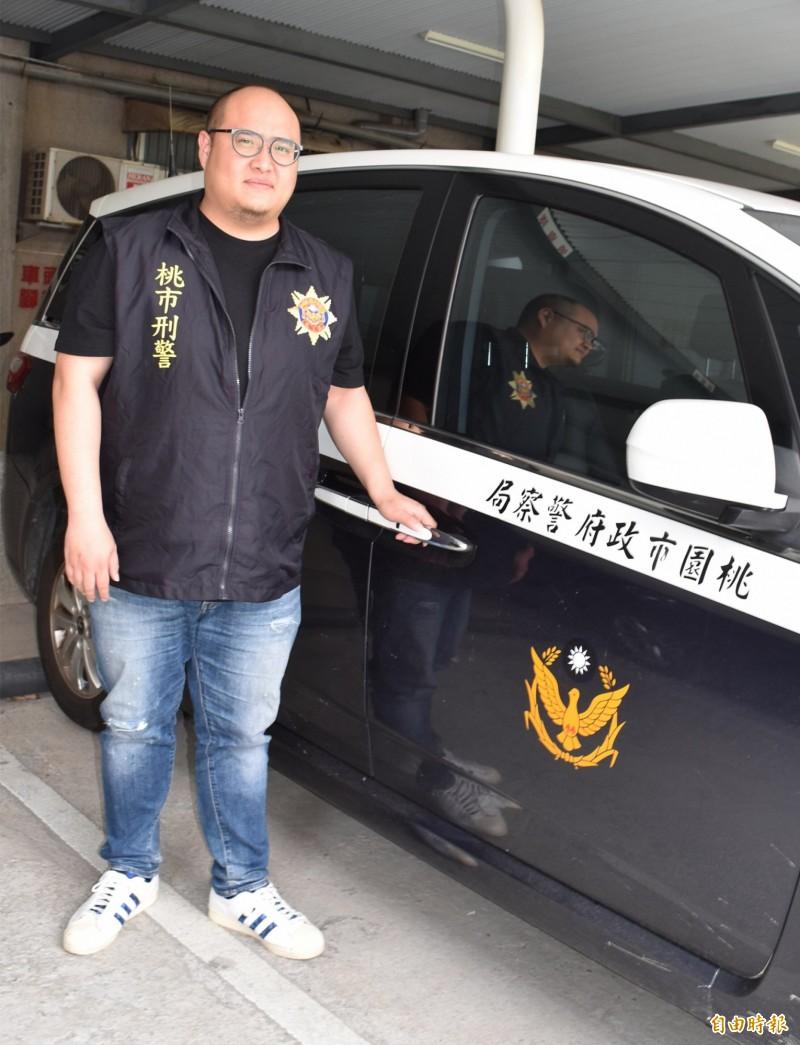 剽悍刑警吳府叡,屢破大案當選全國模範警察。(記者李容萍攝)