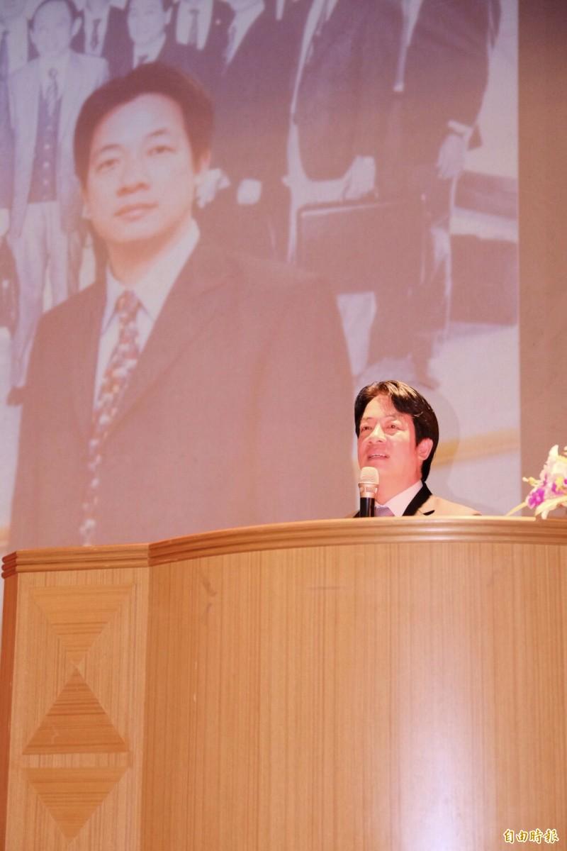 賴清德14日晚上受邀前往中央大學演講。(記者李容萍攝)