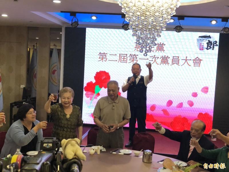 柯媽媽參加「惠民黨」成立大會。(記者陳昀攝)