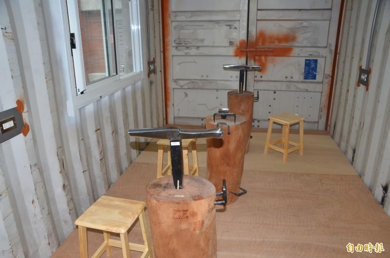 內部也規劃了藝術工作室。(記者吳俊鋒攝)