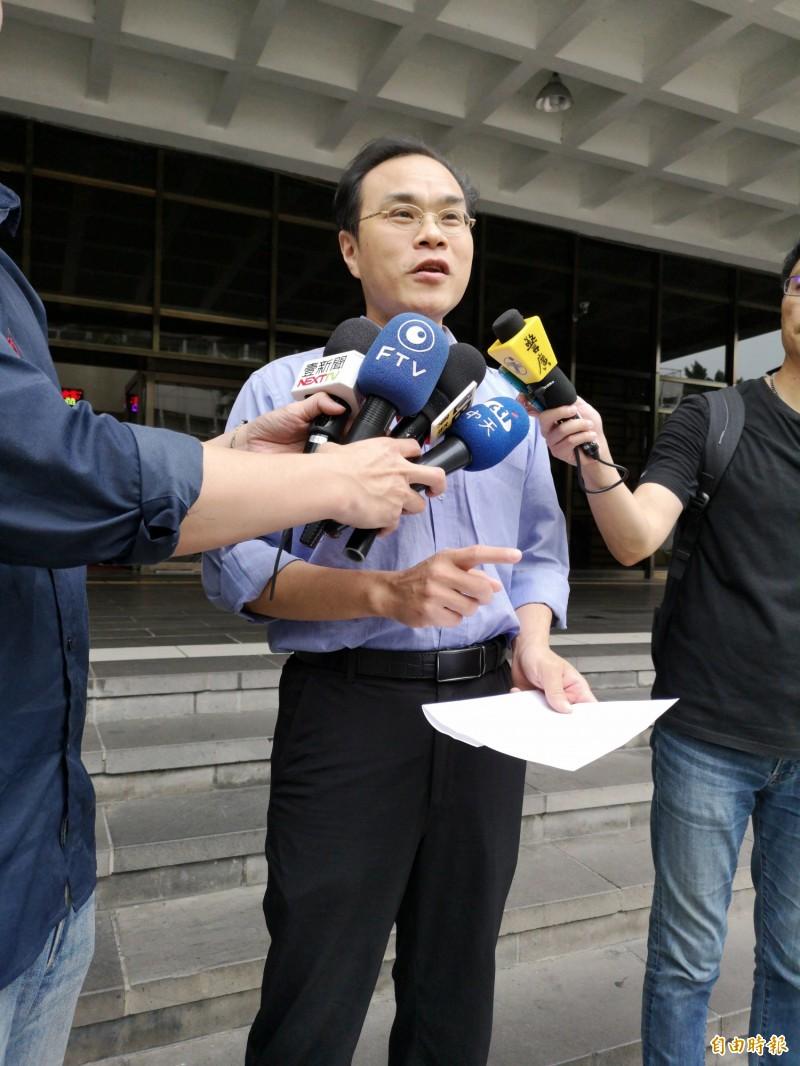 劍青檢改成員、台北地檢署檢察官林達怒控監察院「找碴」。(記者黃捷攝)